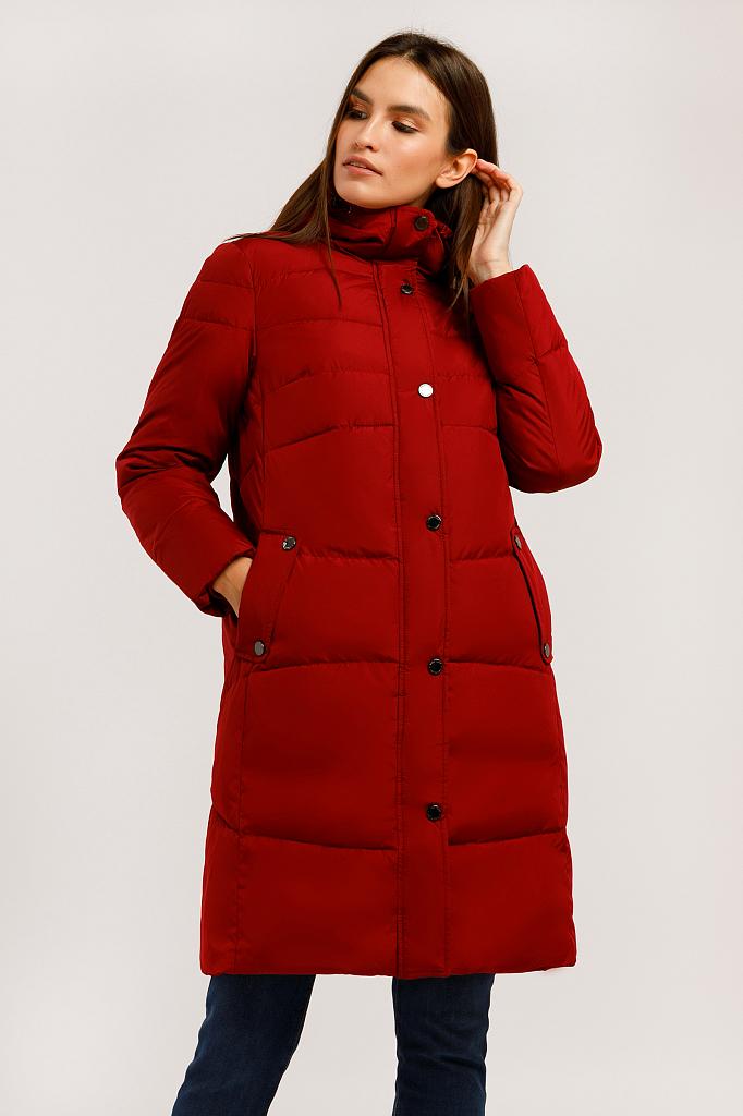 Пальто женское Finn Flare W19-11023F красное XL фото