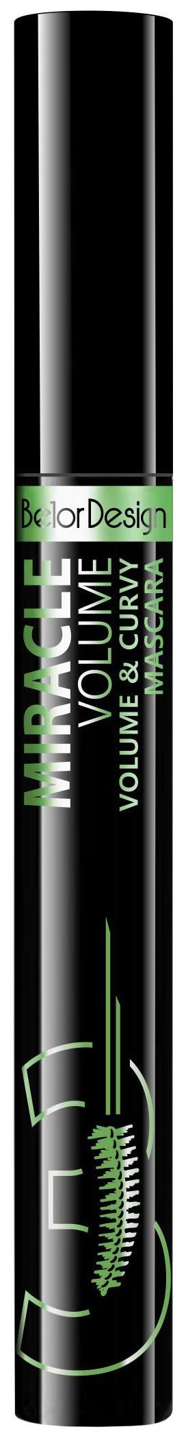 Тушь для ресниц Belor Design Miracle Volume #and# Curvy Mascara Черный 7,6 г