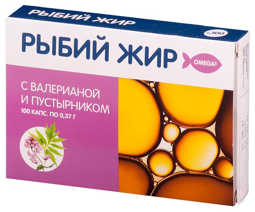 Рыбий жир PL с экстрактом валерьяны и пустырника капсул 100 шт. по цене 75