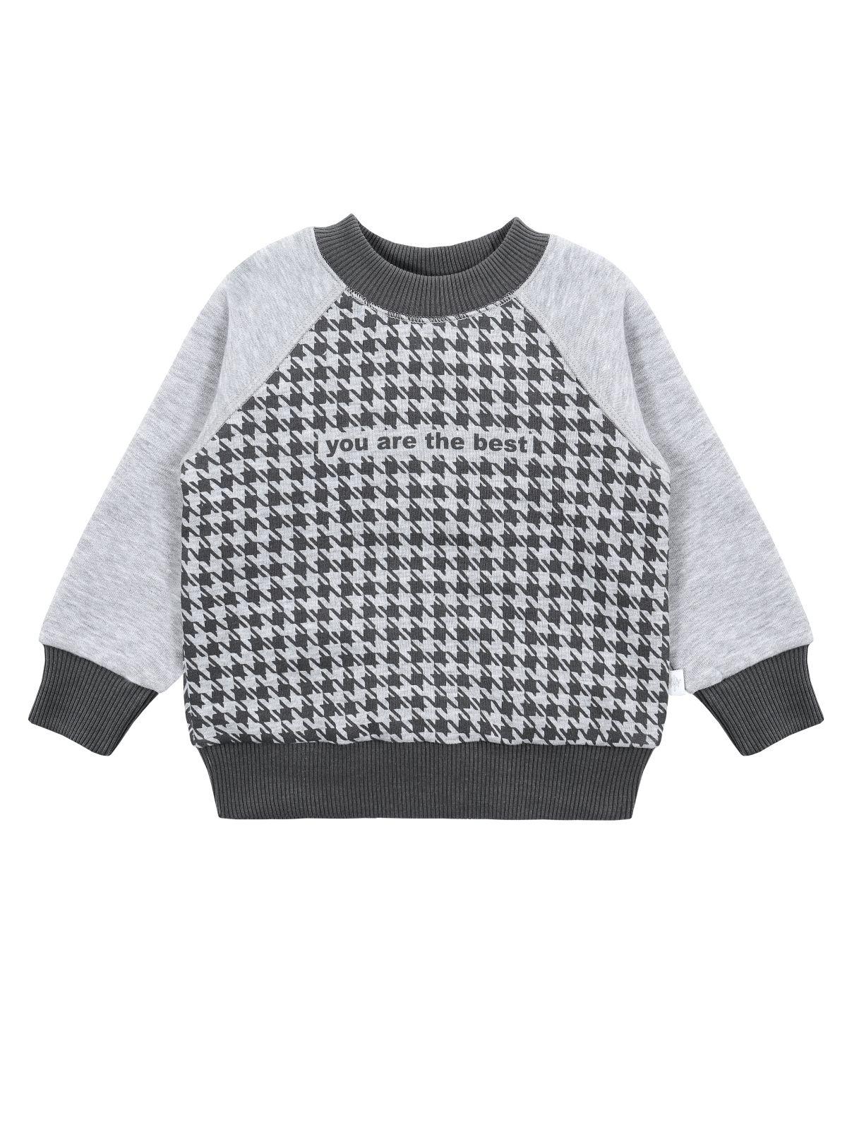 Джемпер для мальчика Мамуляндия 19-926 Футер, Серый меланж р.104 фото