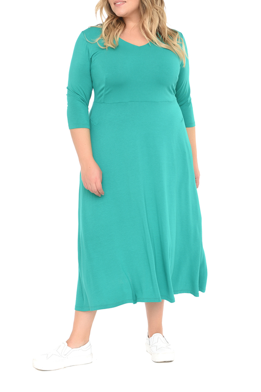 Платье женское SVESTA R690VER зеленое 60 RU фото
