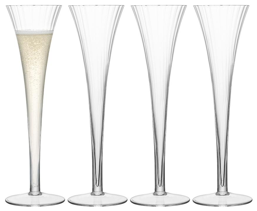 Набор бокалов LSA aurelia для шампанского, для коктейля 200 мл 4шт