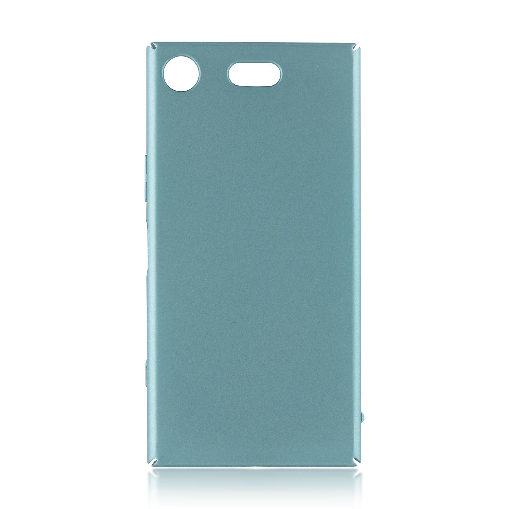 Накладка Brosco Soft-touch для Sony Xperia XZ1 Compact, синяя