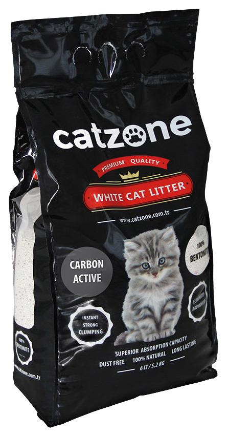 Комкующийся наполнитель для кошек Catzone Active Carbon