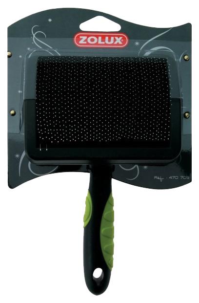 Пуходерка для кошек и собак ZOLUX пластик, резина черный, зеленый