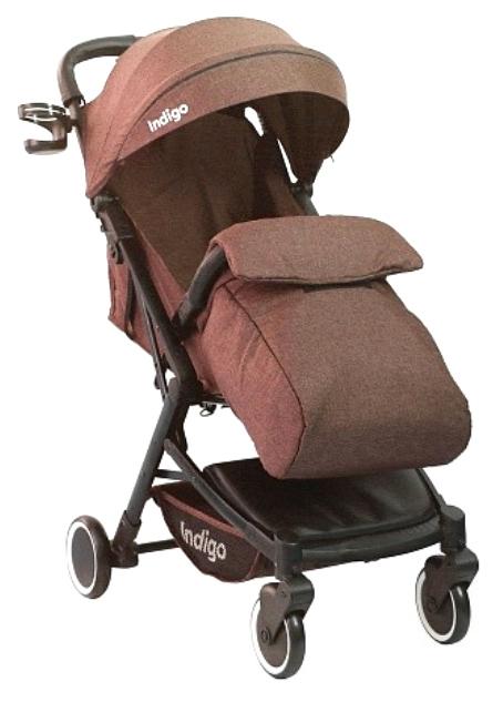 Купить Прогулочная коляска Indigo Galaxy коричневый, Коляски книжки