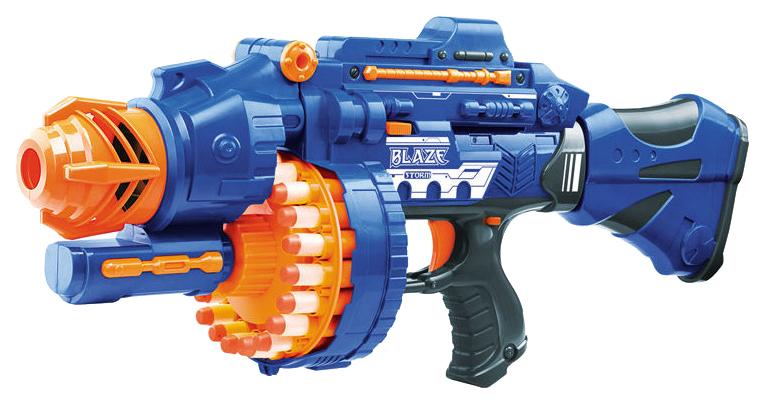 Купить Бластер Наша игрушка с мягкими пулями синий/оранжевый, Бластеры