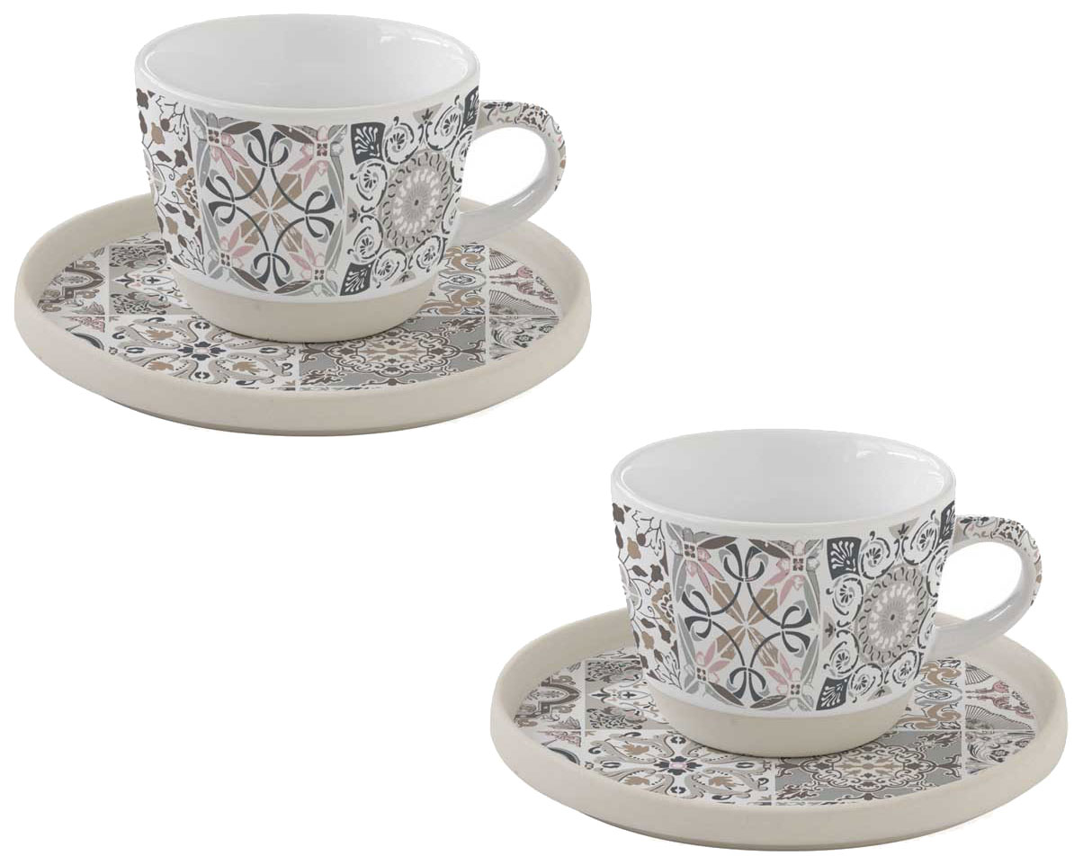 Чайный сервиз Easy Life R1656/CADG Бежевый, белый, серый