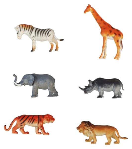 Купить Набор из 6 фигурок 1TOY В мире животных - Дикие животные, 8.5 см, 1 TOY, Фигурки животных