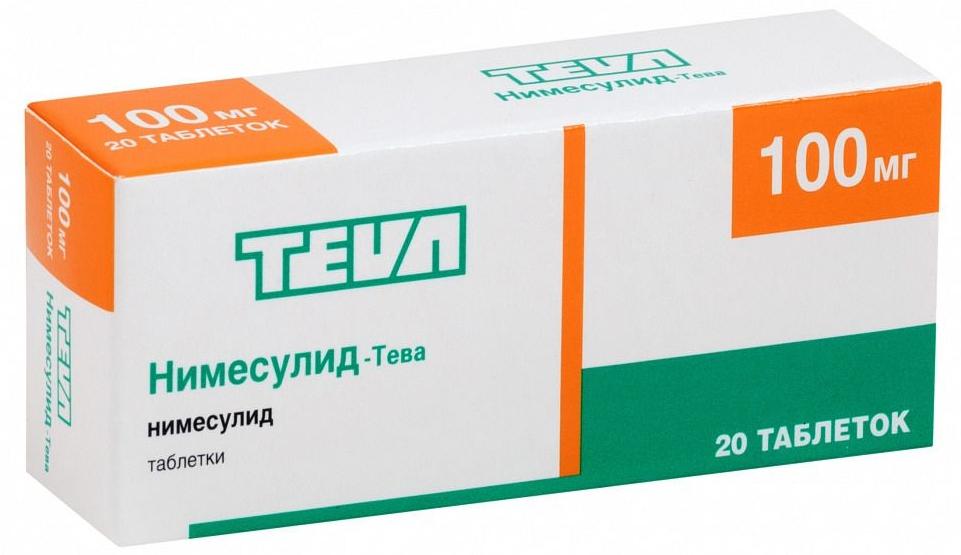 Нимесулид-Тева таблетки 100 мг 20 шт.