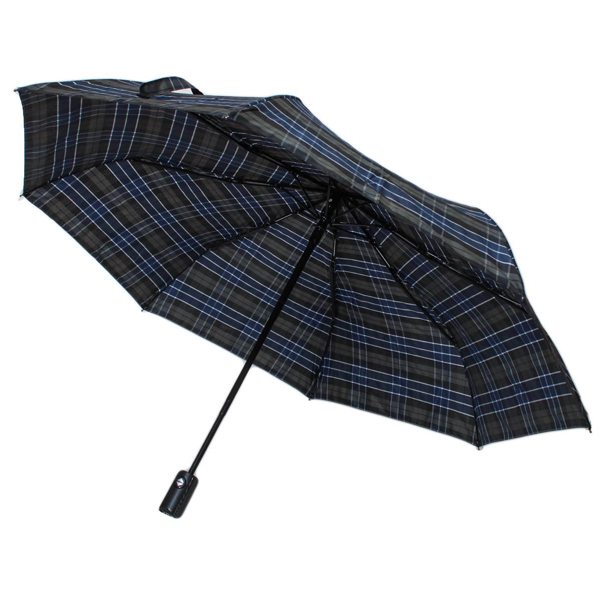 Зонт складной мужской автоматический Flioraj 31001/2 FJ синий
