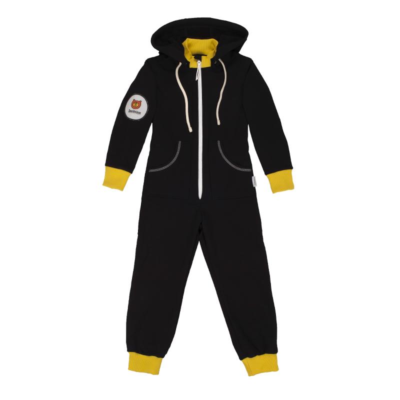 Купить Комбинезон Bambinizon из футера Черно-желтый ТКМД-ЧЖ р.116, Детские трикотажные комбинезоны