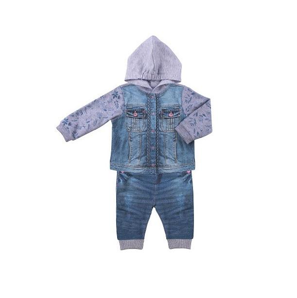 Купить Комплект 2 пр. Папитто для девочки Fashion Jeans 592-05 р.22-74, Комплекты для новорожденных