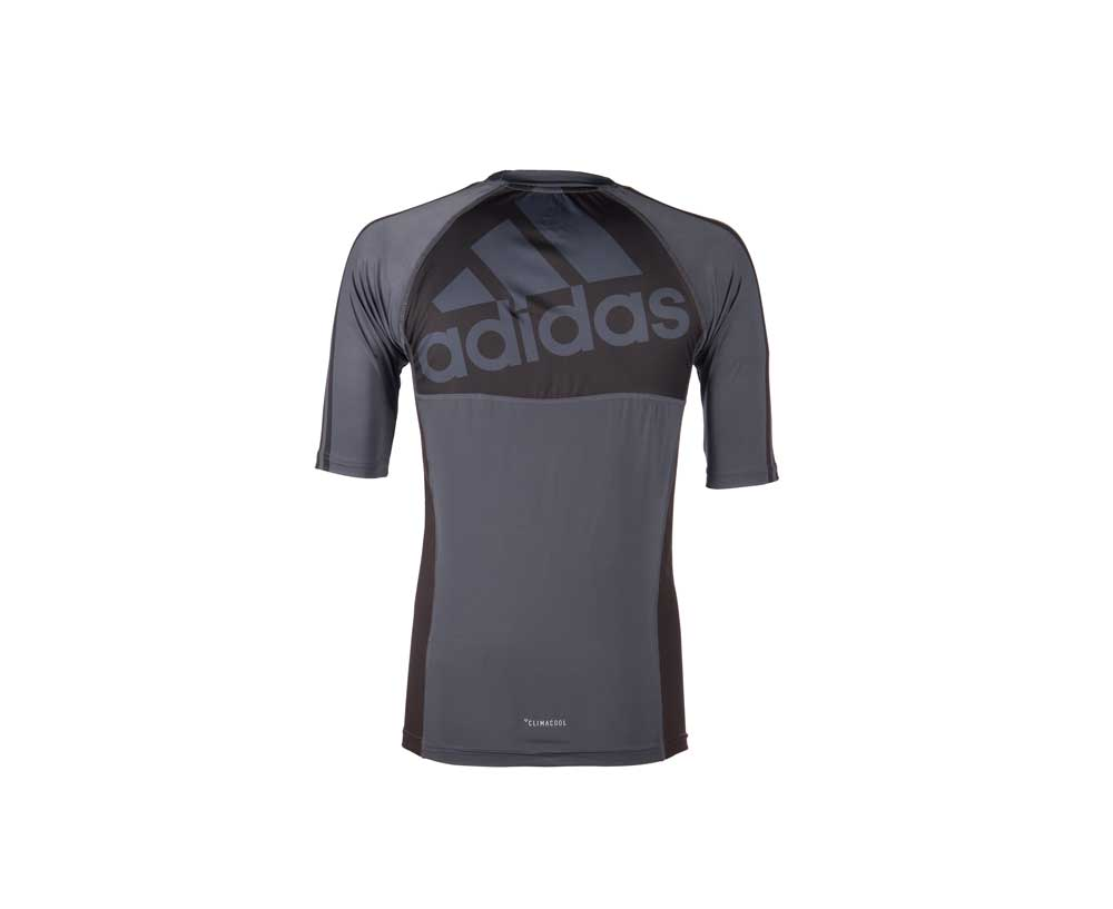 Рашгард Adidas Grappling Rashguard Short Sleeve черно-красная XL