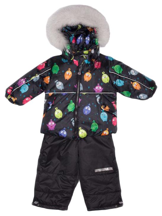 Комплект верхней одежды детский MalekBaby Прилипалы черный р.92