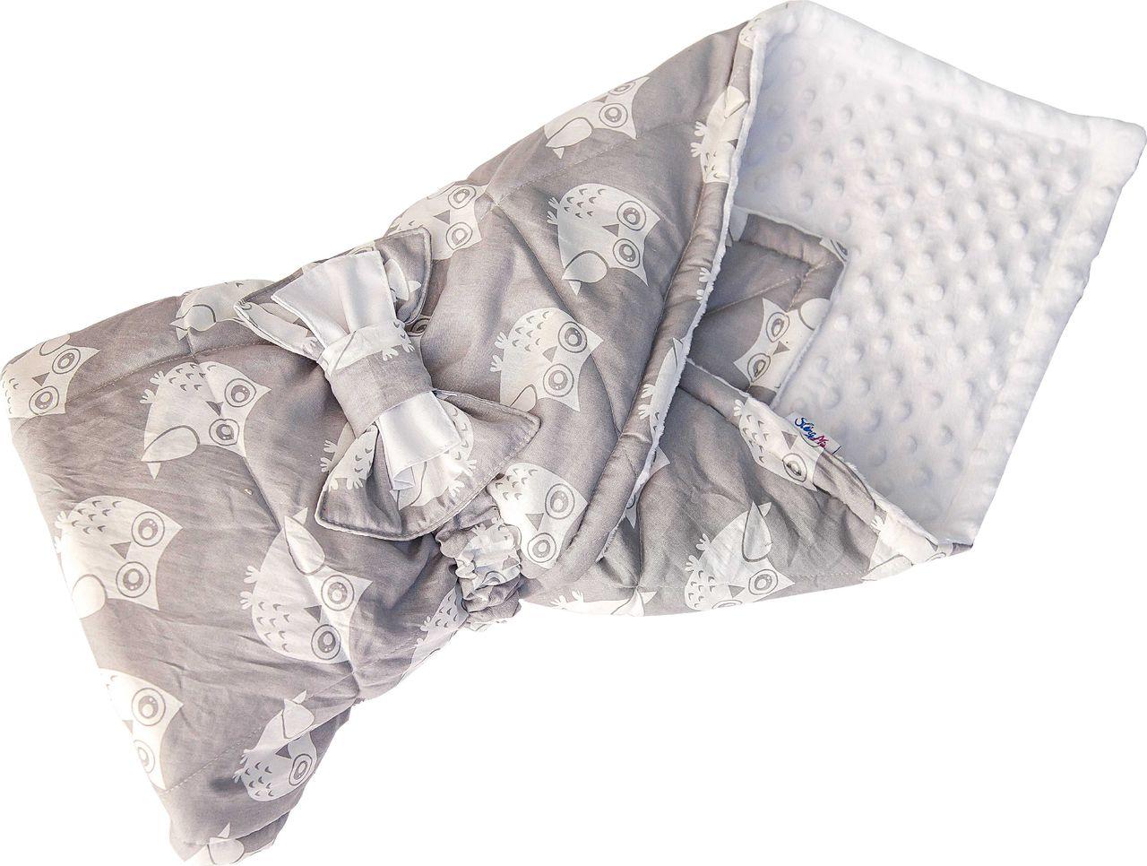 Конверт одеяло SlingMe Радость серый