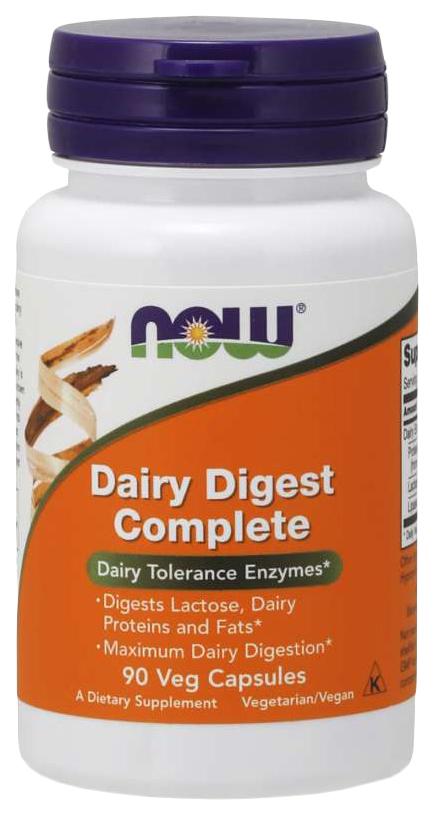 Купить Для пищеварения NOW Dairy Digest Complete 90 капсул
