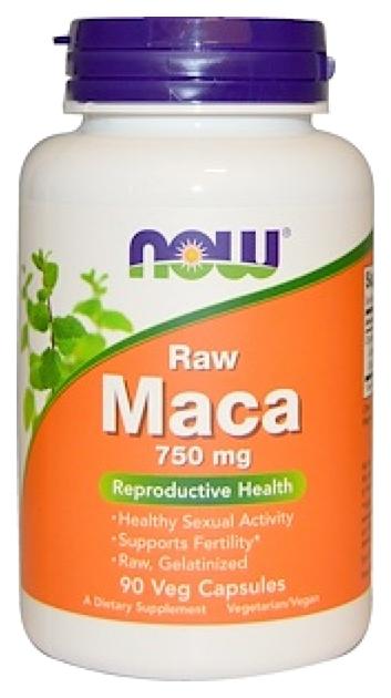 Купить Бустер тестостерона NOW Maca 750 мг 90 капсул