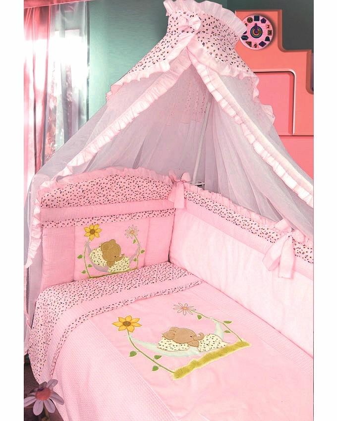 ЗОЛОТОЙ ГУСЬ Комплект в кроватку Сладкий сон (цвет: розовый, 7 предметов) 1096