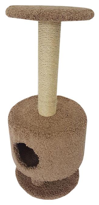 Комплекс для кошек Пушок Круглый на ножках Капучино