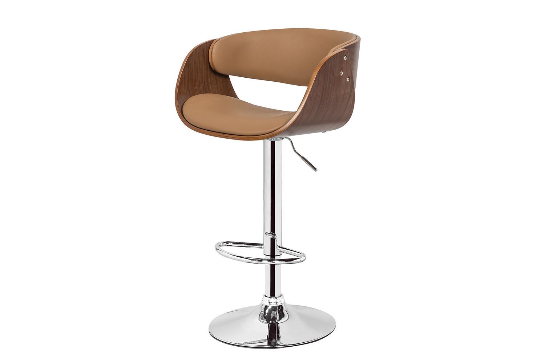 Барный стул Hoff Kanzas, хром/кофе с молоком