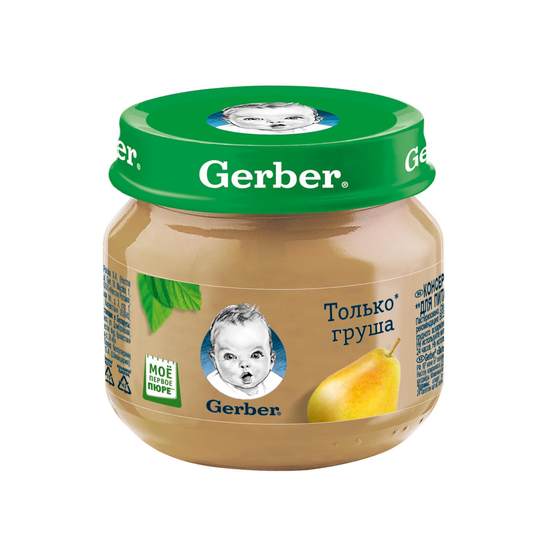 Купить Груши вильямс, Пюре фруктовое Gerber Груши Вильямс с 4 мес. 80 г, Фруктовое пюре