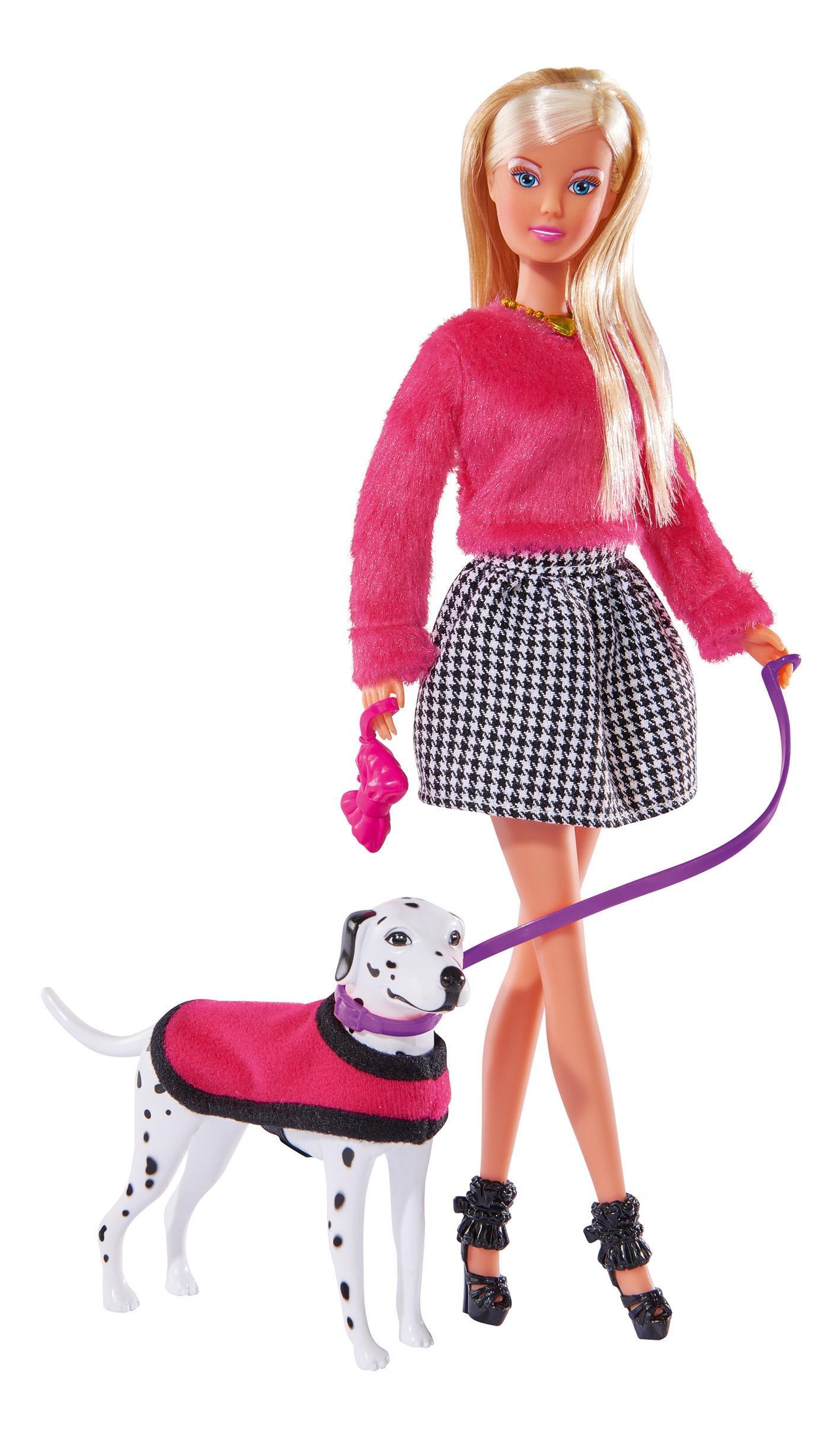 Кукла Simba Штеффи на прогулке с далматинцем 29 см
