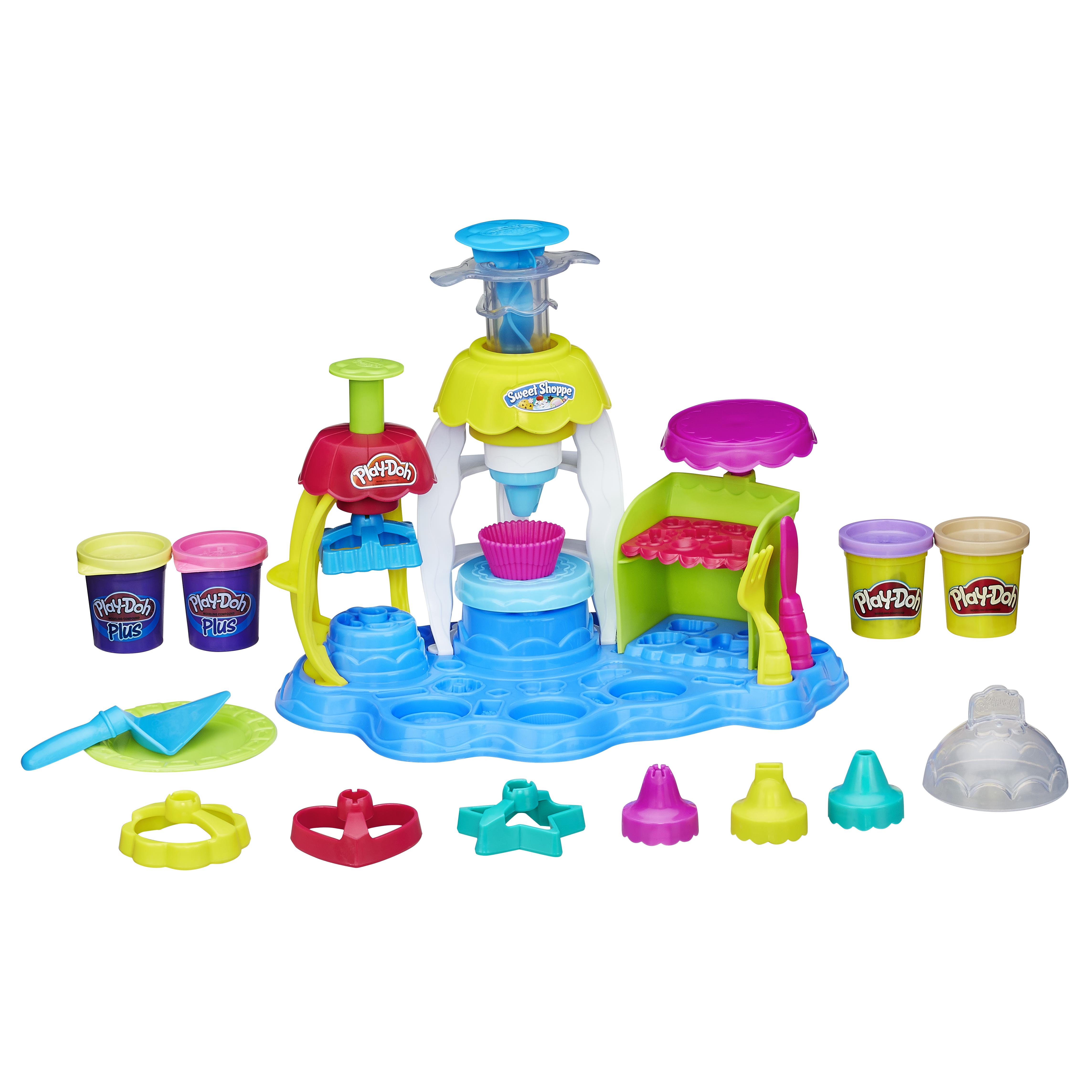 Купить Фабрика пирожных, Набор для лепки из пластилина play-doh фабрика пирожных a0318, Лепка