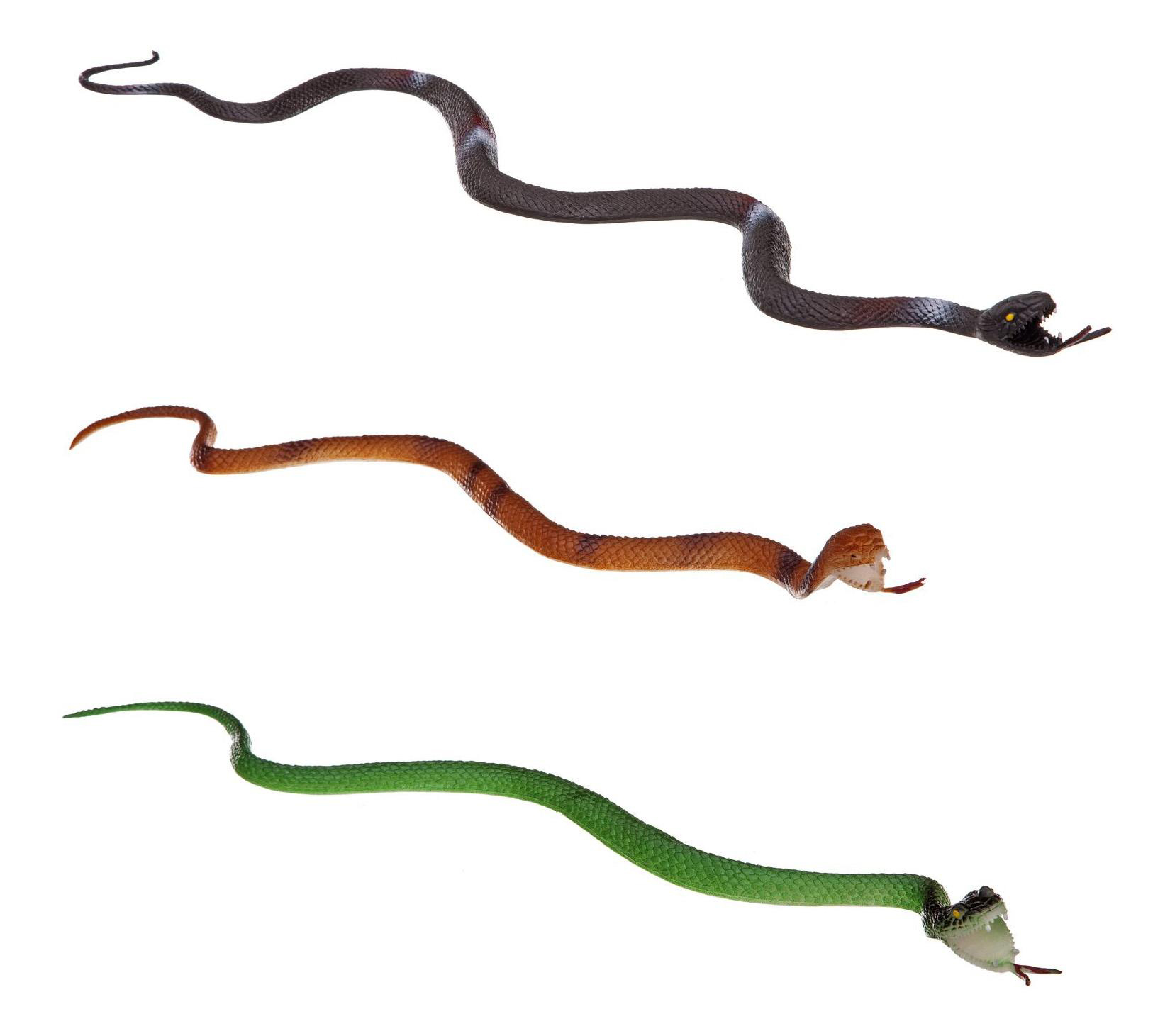 Купить Набор животных Bondibon ребятам о зверятах, змеи 3 видов, 25-32, Фигурки животных