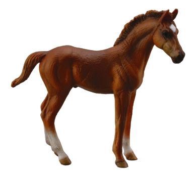 Купить Фигурка лошадки Collecta Жеребец чистокровный каштановый M 88671b, Игровые фигурки