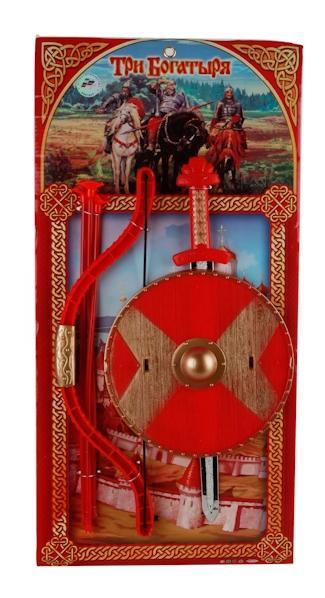 Набор оружия Играем Вместе Три богатыря (Меч, Щит, Лук) 8518 57x28 см, Наборы игрушечного оружия  - купить со скидкой
