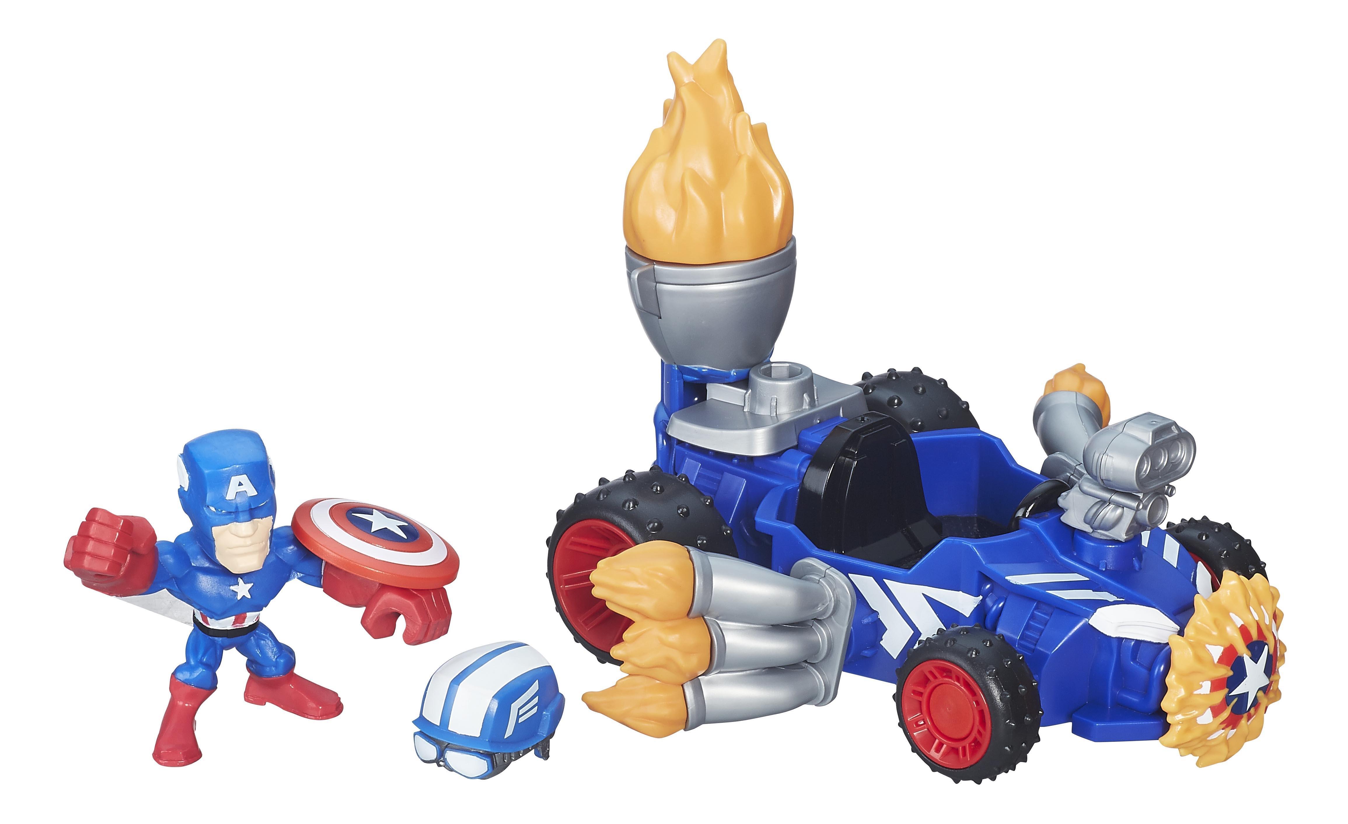 Купить Набор микро-фигурка + машина марвел b6433 b6686, Avengers, Игровые наборы