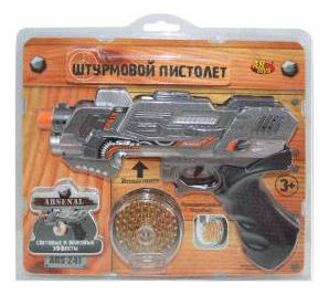 Купить Пистолет штурмовой эл мех., со световыми и звуковыми эффектами, ABtoys, Игрушечные пистолеты