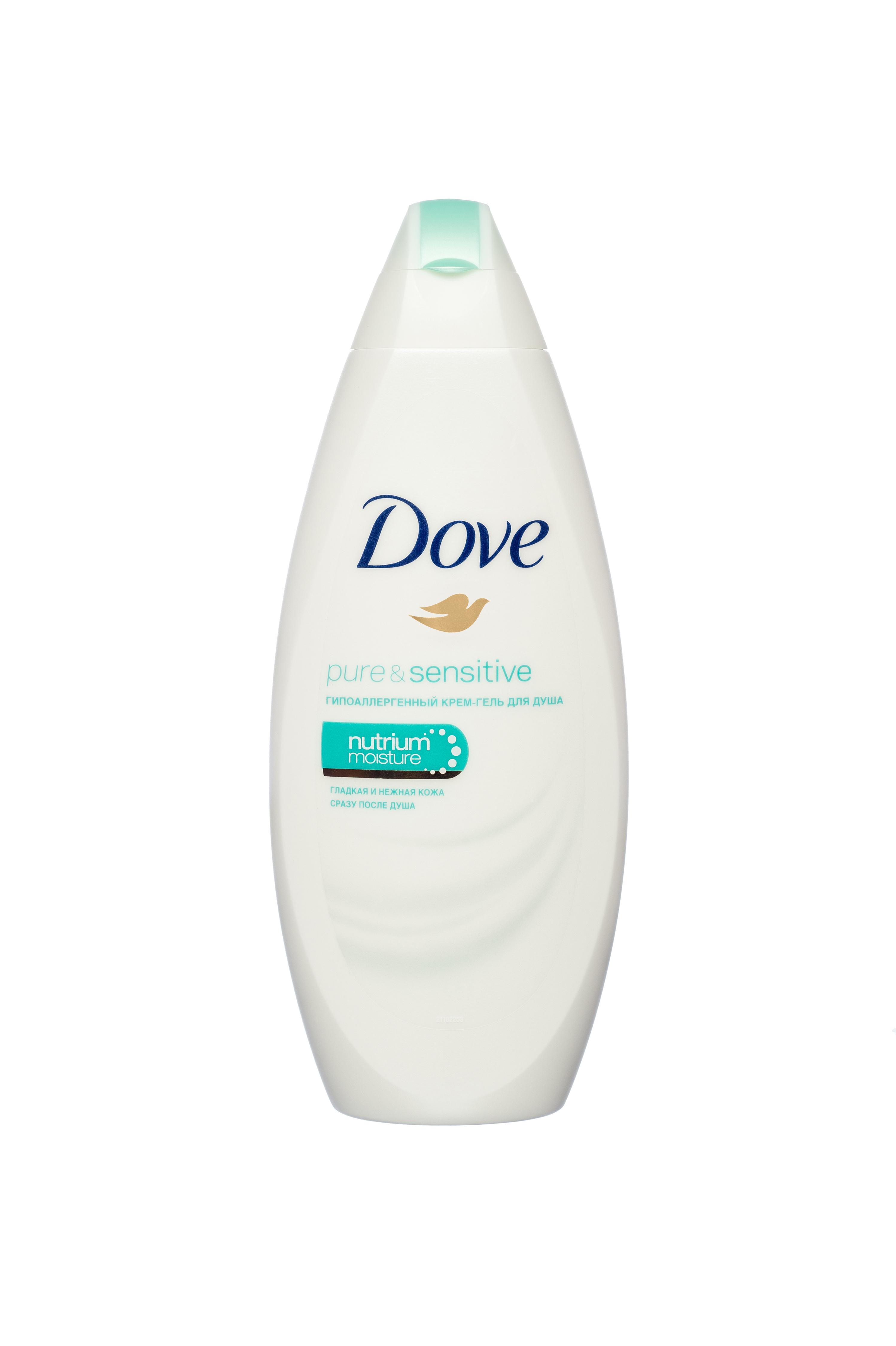 Крем-Гель для душа Dove гипоаллергенный для чувствительной кожи 250 мл