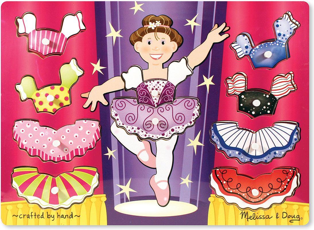 Купить Пазл Melissa&Doug Мои первые пазлы Переодень балерину 10эл. (3292), Melissa & Doug, Пазлы