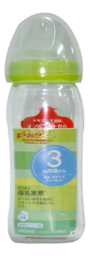 Купить Детская бутылочка Pigeon Перистальтик плюс с широким горлом 240 мл, Бутылочки для кормления
