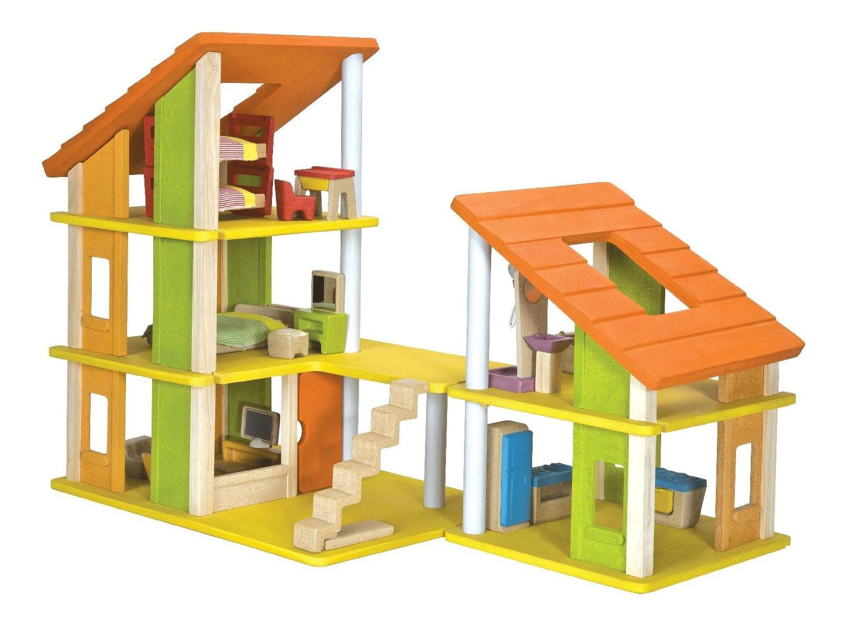 Кукольный дом PlanToys Кукольный Домик Шале с Мебелью фото