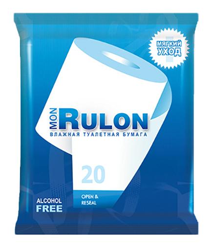 Туалетная бумага влажная Mon Rulon 20 шт..