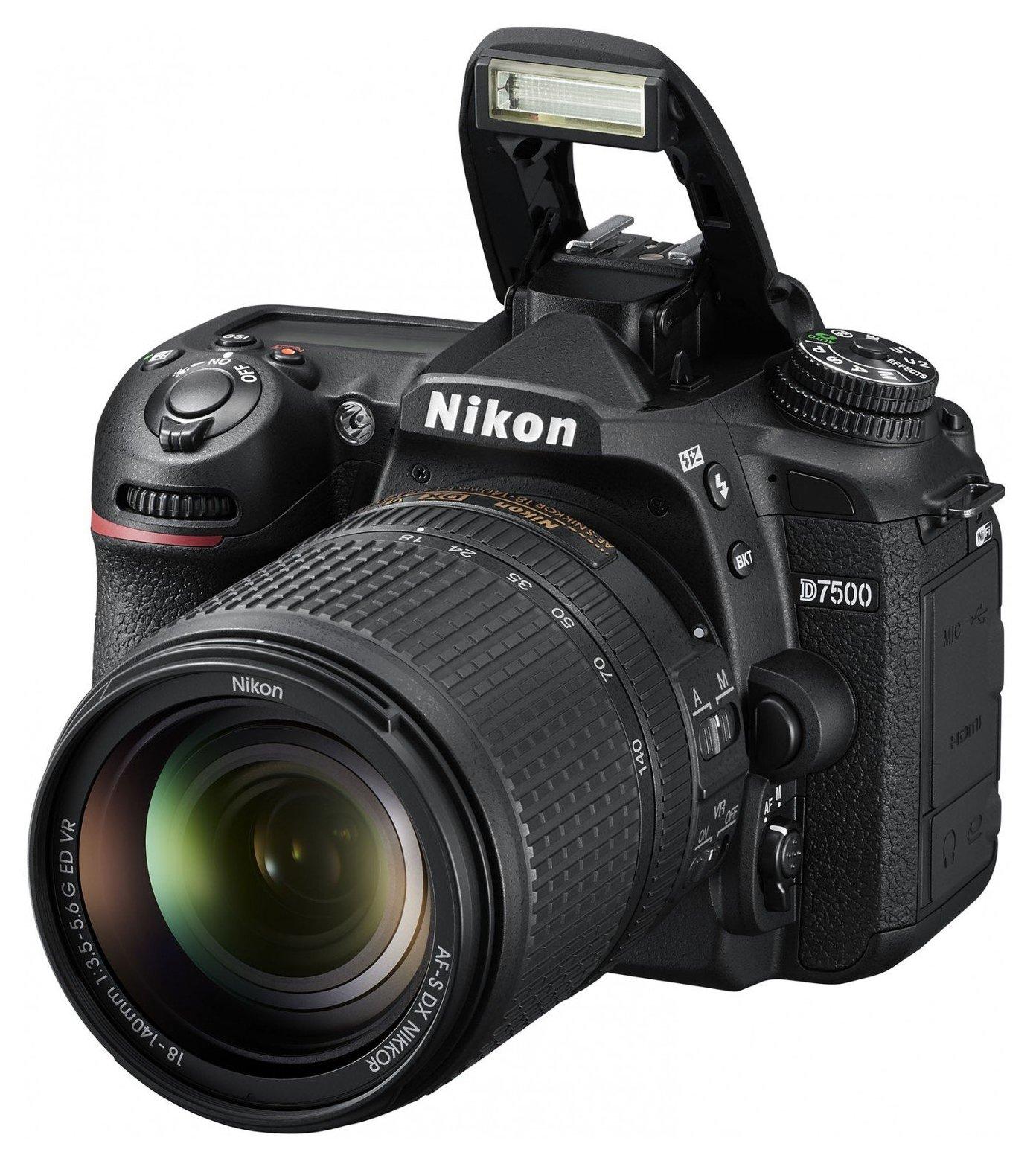 Зеркальный фотоаппарат Nikon D7500 Kit Black фото