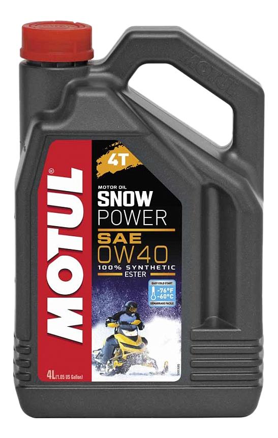 Моторное масло Motul Snowpower 4T 0W-40 4л 105892