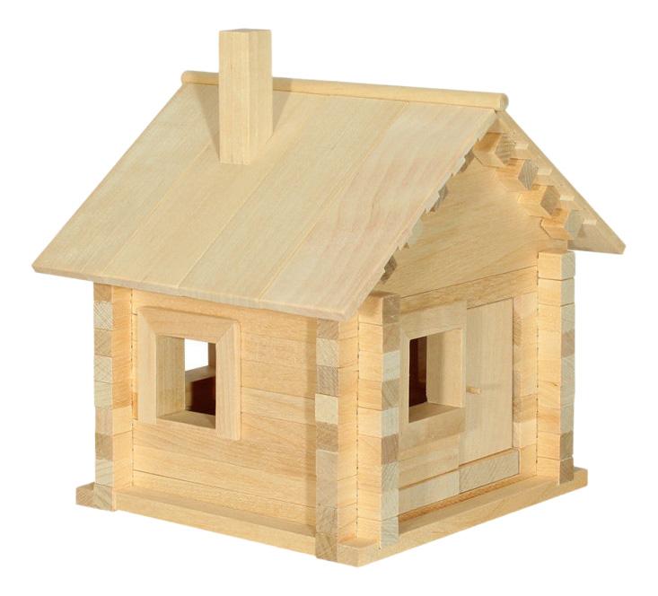 Конструктор деревянный Пелси Избушка-Теремок