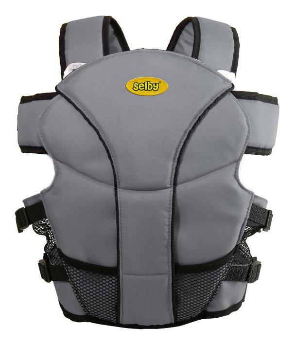 Рюкзак для переноски детей Тополь Selby Люкс серый