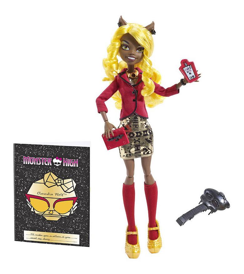Купить Коллекционная кукла Monster High страх, Камера, Мотор! Хантливуд Клавдия Вульф, Куклы Monster High