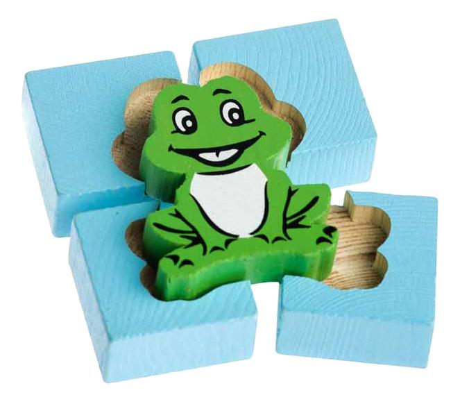 Деревянная игрушка для малышей Томик Лягушка