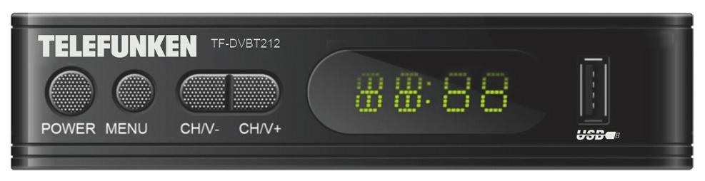 DVB-T2 приставка Telefunken TF-DVBT212 Black