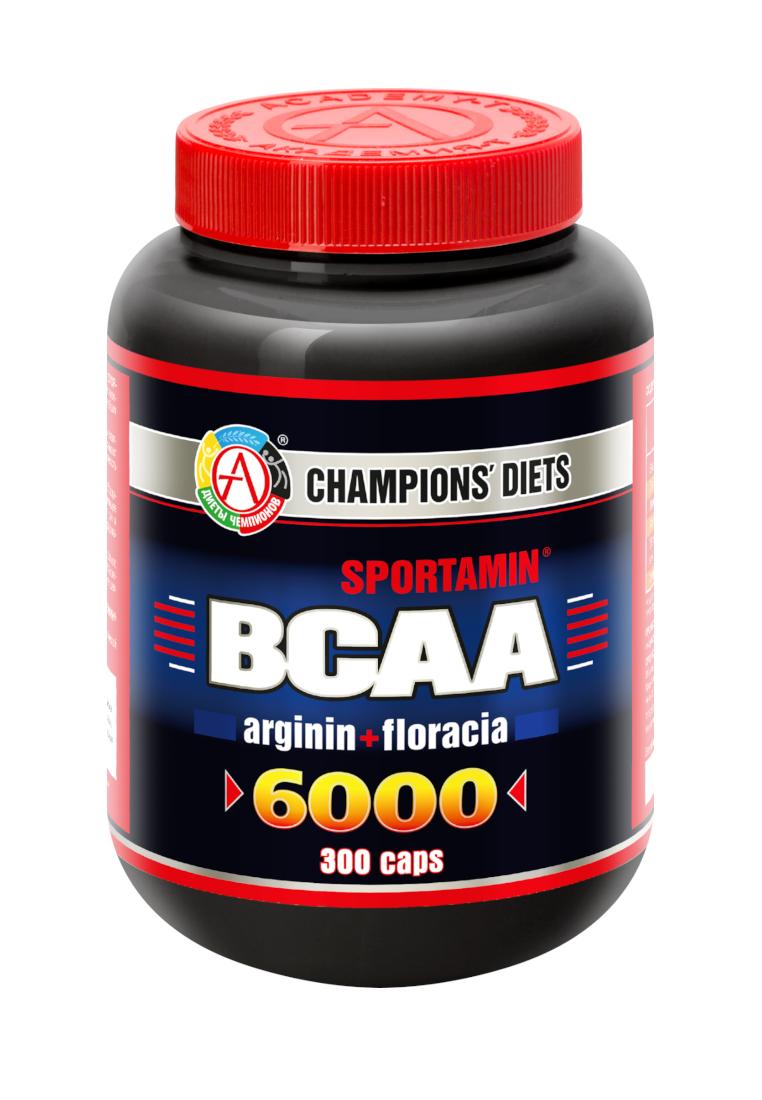 АКАДЕМИЯ-Т BCAA 6000 Sportamin 300 капсул без вкуса фото