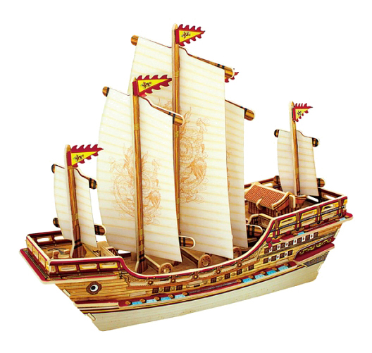Модели для сборки Robotime Китайский корабль фото