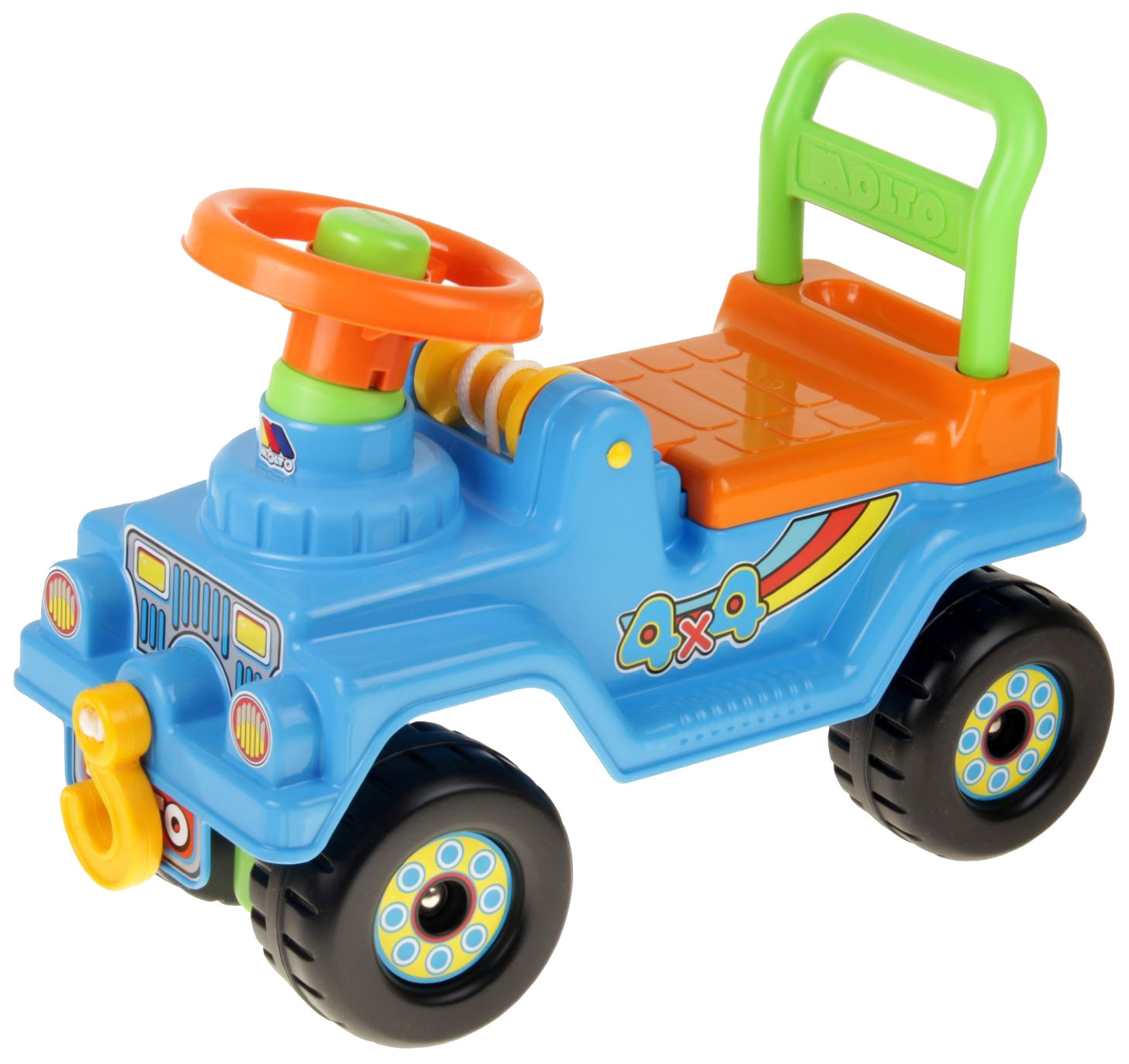 Купить Каталка детская Полесье Molto 62789 4х4 пластик от 1 года, Машинки каталки