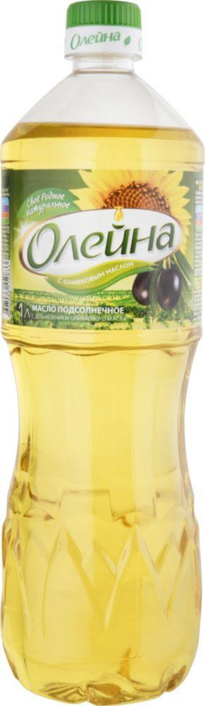 Масло подсолнечное Олейна с добавлением оливкого 1 л фото