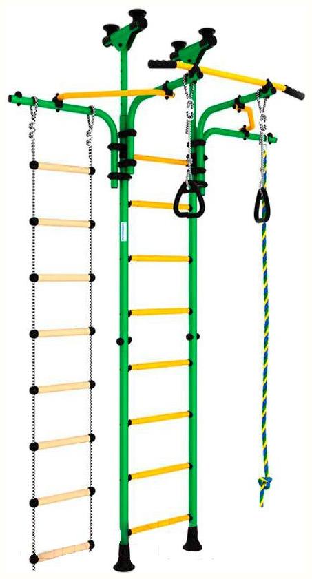 Детский спортивный комплекс Romana Карусель R5 (ДСКМ-2-8,06,Т1,410,03-14) зелёно-жёлтый фото